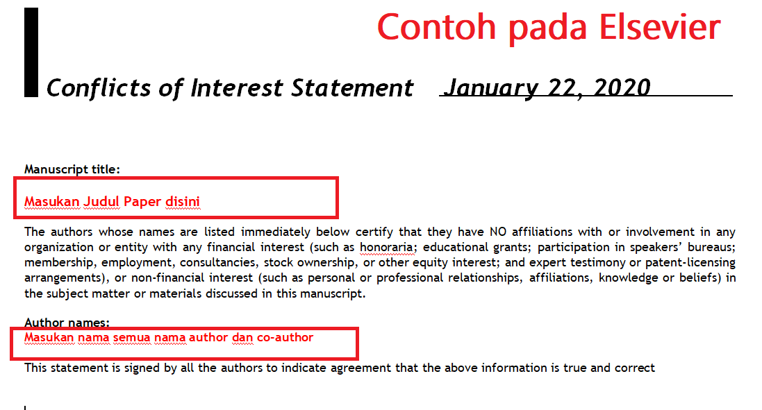 Conflict of interest adalah